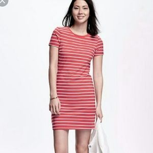 Old Navy XL, Thick Jersey Striped T Shirt Dress